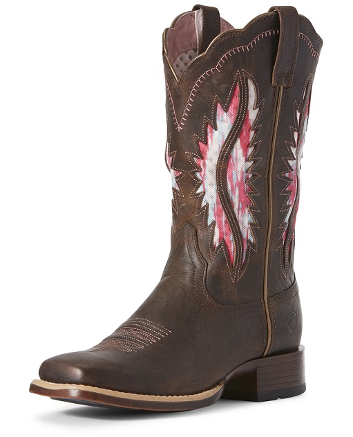 new product d2edf 06004 Stivali western Ariat Solana brown