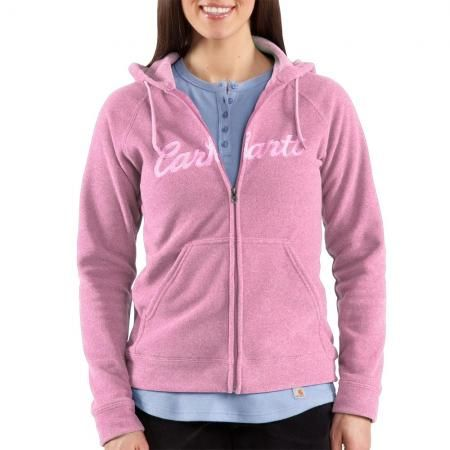 new product b5cb9 1d8f6 Felpa in pile Carhartt zip rosa