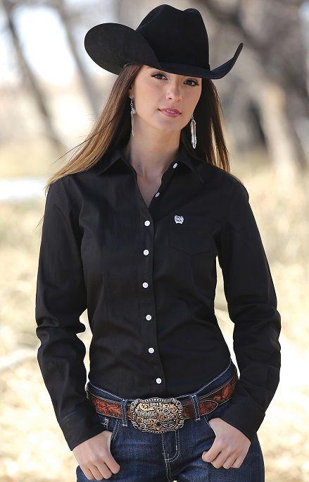 competitive price c08a5 5b03f Camicia Cinch donna nera