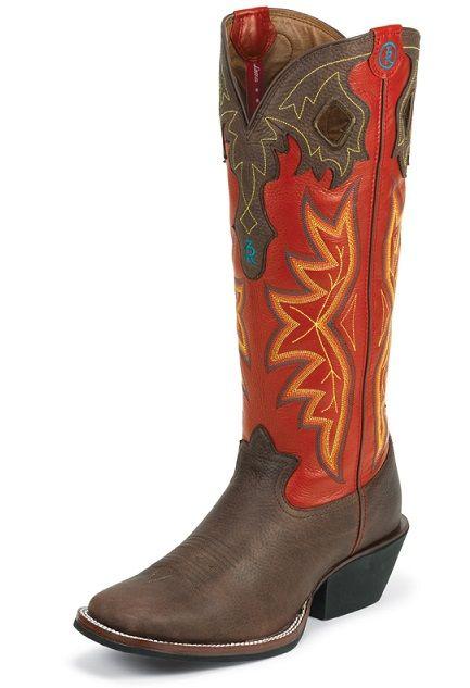 5408c3aba2f Tony Lama buckaroo boots Red