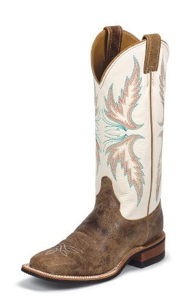 Jurassic Park electrode Serrated  Sale Justin western boots Ivory, Selleria Repetti
