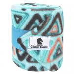 Fasce Classic Equine in pile turquoise triangle