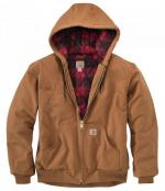 Giacca Carhartt Active marrone plaid