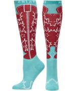 Ariat woman turquoise boots socks