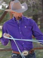 Man Shirt Cinch purple solid