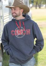 Gray Cinch hoodie red logo