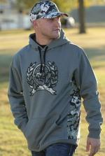 Cinch sweatshirt camo trim logo