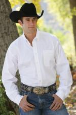 Man Shirt Cinch solid white