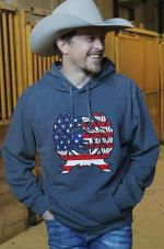 Cinch sweatshirt flag logo