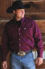 Man Shirt Cinch burgundy solid