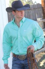 Man Shirt Cinch light green solid