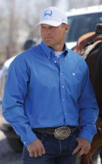 Man Shirt Cinch Blue solid