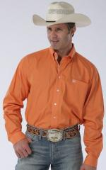 Man Shirt Cinch Orange solid