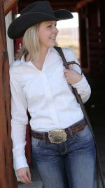 Cinch girl shirt white solid
