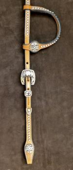 Show headstall with silver SR5