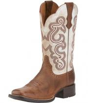 Stivali western Ariat white distressed