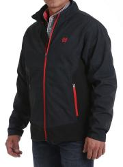 Giacca Cinch softshell charcoal and red